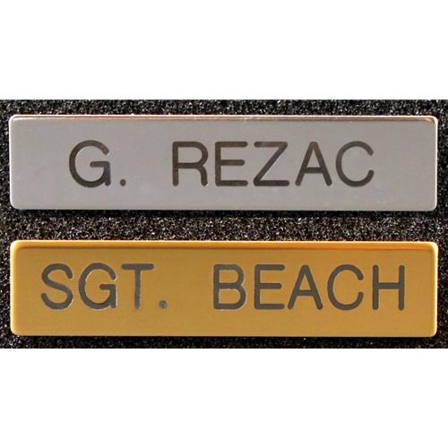 Police Bar Name Badge